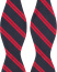 Amanda Christensen Stripe Self Tie Silk Navy/Red