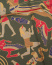 Drake's Egyptian Print Silk Pocket Square Green