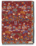 Drake's Wool/Silk Antique Village Printed Scarf Burgundy