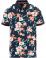 GANT Printed Flower Polo Evening Blue