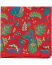 Amanda Christensen Silk Twill Printed Flowers Pocket Square Red