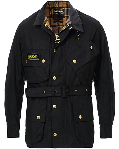 Barbour International International Original Jacket Black i gruppen Klær / Jakker / Voksede jakker hos Care of Carl (10004111r)