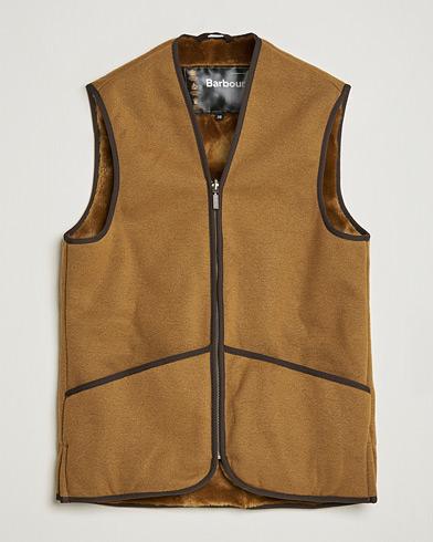 Barbour Lifestyle Warm Pile Waistcoat Zip-In Liner Brown