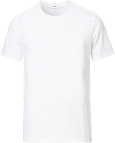 Filippa K Soft Lycra Tee White i gruppen Klær / T-Shirts hos Care of Carl (10225611r)