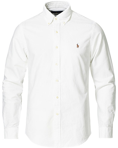 Polo Ralph Lauren Slim Fit Shirt Oxford White i gruppen Klær / Skjorter / Casual / Oxfordskjorter hos Care of Carl (10287811r)