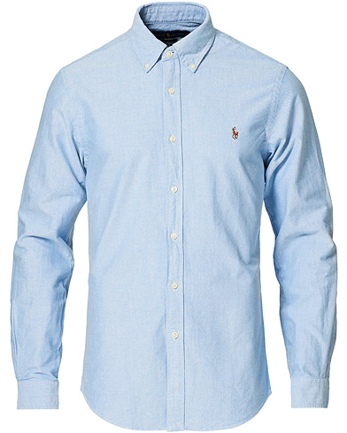 Polo Ralph Lauren Slim Fit Shirt Oxford Blue i gruppen Klær / Skjorter / Casual / Oxfordskjorter hos Care of Carl (10287911r)
