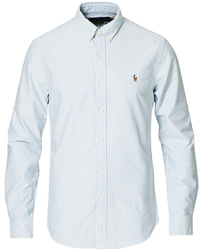 Polo Ralph Lauren Slim Fit Shirt Oxford Stripes Blue i gruppen Klær / Skjorter / Casual / Oxfordskjorter hos Care of Carl (10288011r)