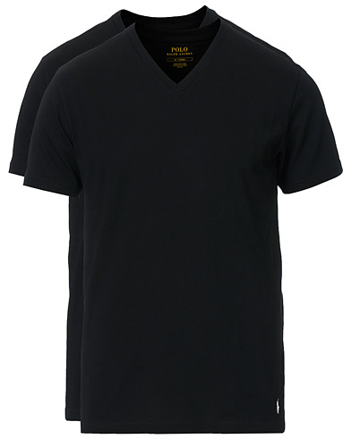 Polo Ralph Lauren 2-Pack T-Shirt V-Neck Black i gruppen Klær / T-Shirts hos Care of Carl (10296111r)