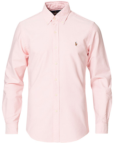 Polo Ralph Lauren Slim Fit Shirt Oxford Pink i gruppen Tidløse klassikere / Buttondown-skjorter hos Care of Carl (10339511r)