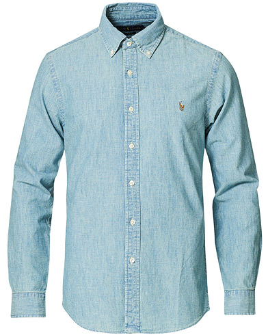 Polo Ralph Lauren Slim Fit Chambray Shirt Washed i gruppen Klær / Skjorter / Casual / Jeansskjorter hos Care of Carl (10349511r)
