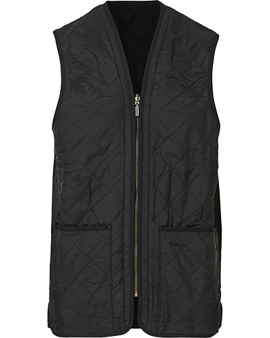Barbour Lifestyle Quilt Waistcoat/Zip-In Liner Black i gruppen Klær / Vester hos Care of Carl (10509811r)