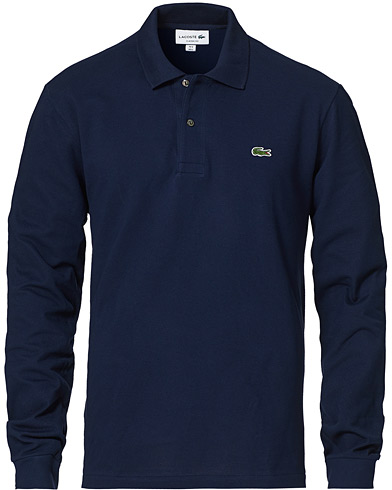 Lacoste Long Sleeve Polo Navy Blue i gruppen Klær / Pikéer hos Care of Carl (10514111r)