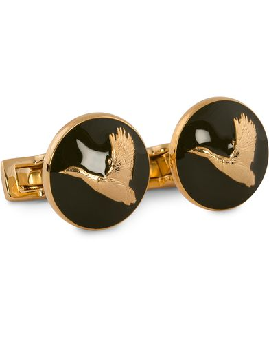 Skultuna Cuff Links Hunter Flying Duck Gold/Green  i gruppen Assesoarer / Mansjettknapper hos Care of Carl (10531210)
