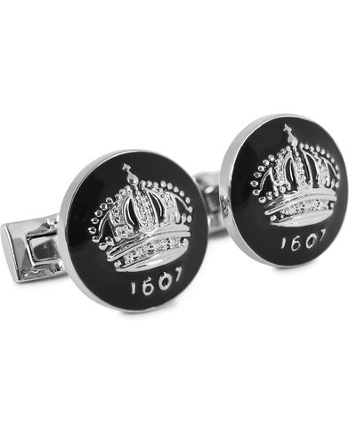 Skultuna Cuff Links The Crown Silver/Baroque Black  i gruppen Assesoarer / Mansjettknapper hos Care of Carl (10533010)