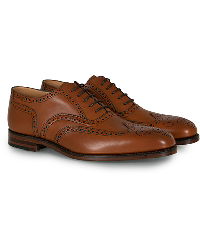 Loake 1880 Buckingham Brogue Brown Burnished Calf  i gruppen Sko / Brogues hos Care of Carl (10629311r)