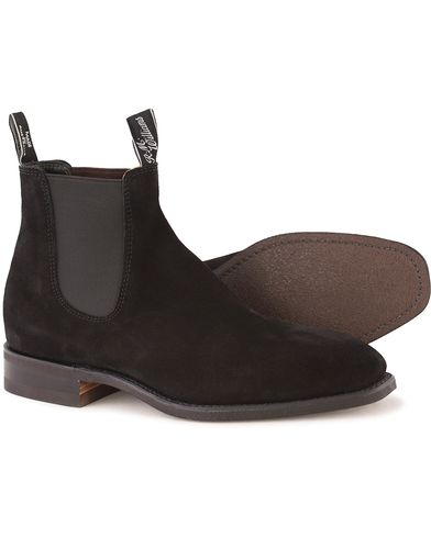R.M.Williams Blaxland G Boot Suede Black i gruppen Sko / Støvler hos Care of Carl (10716411r)