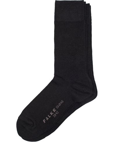 Falke Swing 2-Pack Socks Black i gruppen Klær / Undertøy / Sokker hos Care of Carl (10745811r)