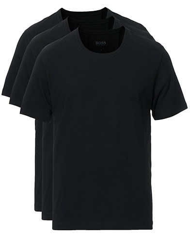BOSS 3-Pack Crew Neck T-Shirt Black i gruppen Klær / T-Shirts hos Care of Carl (10786111r)