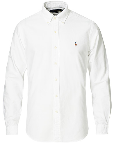 Polo Ralph Lauren Custom Fit Shirt Oxford White i gruppen Inspirasjon / Tidløse klassikere / Buttondown-skjorter hos Care of Carl (10797111r)