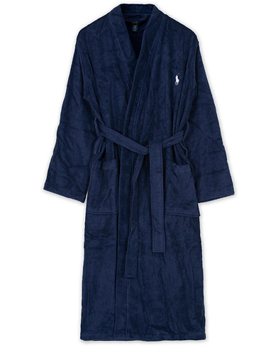 Polo Ralph Lauren Light Terry Kimono Robe Cruise Navy i gruppen Klær / Pyjamaser & Badekåper / Morgenkåper hos Care of Carl (10970611r)