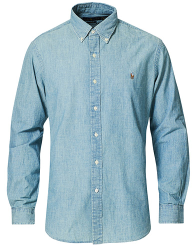 Polo Ralph Lauren Custom Fit Shirt Chambray Washed i gruppen Klær / Skjorter / Casual / Jeansskjorter hos Care of Carl (10976411r)