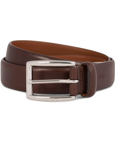 Polo Ralph Lauren Cowhide Belt 3 cm Brown i gruppen Assesoarer / Belter / Umønstrede belter hos Care of Carl (11019611r)