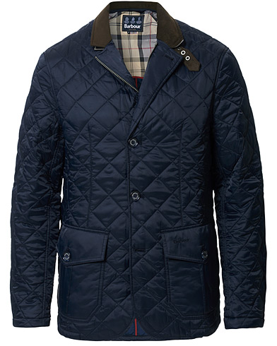 Barbour Lifestyle Dress Tartan Quilted Sander Jacket Navy i gruppen Klær / Jakker / Quiltede jakker hos Care of Carl (11210211r)