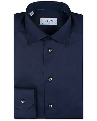 Eton Slim Fit Shirt Navy i gruppen Klær / Skjorter / Formelle hos Care of Carl (11271311r)