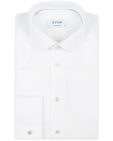 Eton Contemporary Fit Shirt Double Cuff White i gruppen Klær / Skjorter / Formelle / Businesskjorter hos Care of Carl (11271911r)