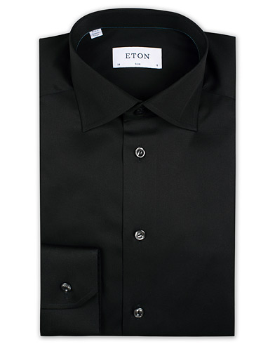 Eton Slim Fit Shirt Black i gruppen Klær / Skjorter / Formelle / Businesskjorter hos Care of Carl (11273611r)