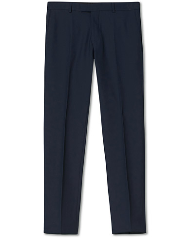 Oscar Jacobson Damien Trousers Super 120's Wool Navy i gruppen Klær / Bukser / Dressbukser hos Care of Carl (11279011r)