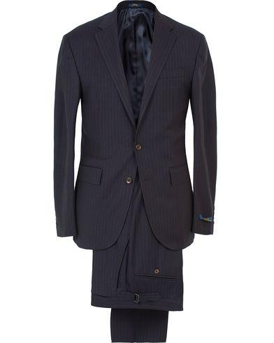 Polo Ralph Lauren Clothing Suit Pinstripe Navy Cream