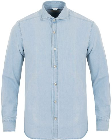 Stenströms Slimline Light Denim Shirt Garment Wash