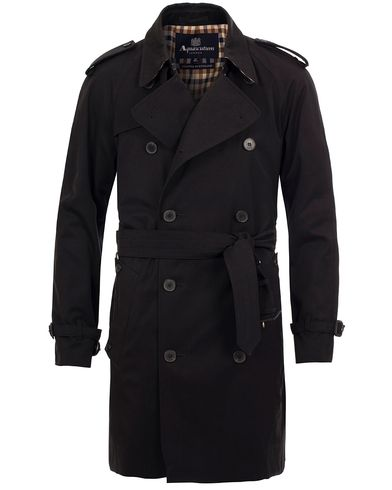 Aquascutum Corby Double Breasted Trenchcoat Black
