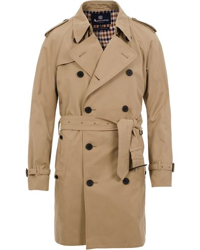 Aquascutum Corby Double Breasted Trenchcoat Camel i gruppen Klær / Jakker / Frakker hos Care of Carl (11577511r)