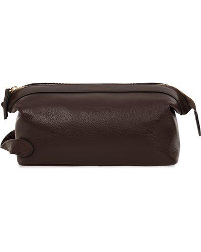Baron Toilet Bag Brown Leather