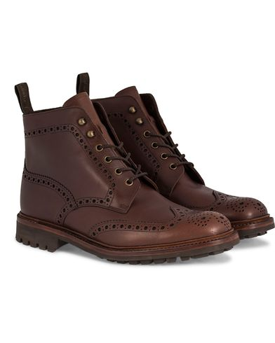 Loake 1880 Mulligan Brogue Boot Brown Waxy Leather