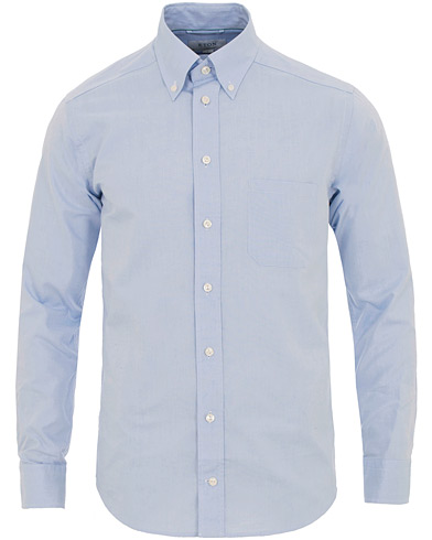 Eton Slim Fit Shirt Green Ribbon Oxford Blue