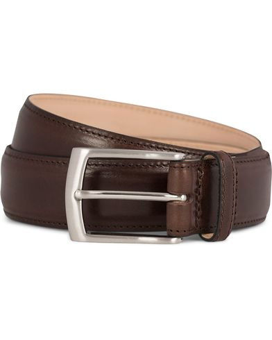Loake 1880 Henry Leather Belt 3,3 cm Dark Brown