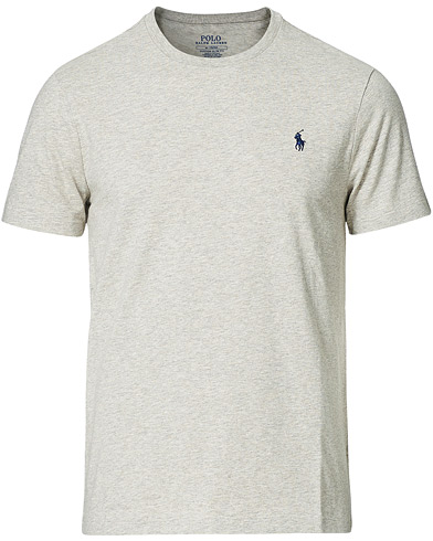 Polo Ralph Lauren Custom Slim Fit Tee New Grey Heather i gruppen Klær / T-Shirts hos Care of Carl (11766611r)