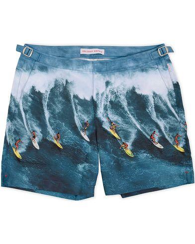 Orlebar Brown Bulldog Hulton Mid Length Swim Shorts Why Me Ah!