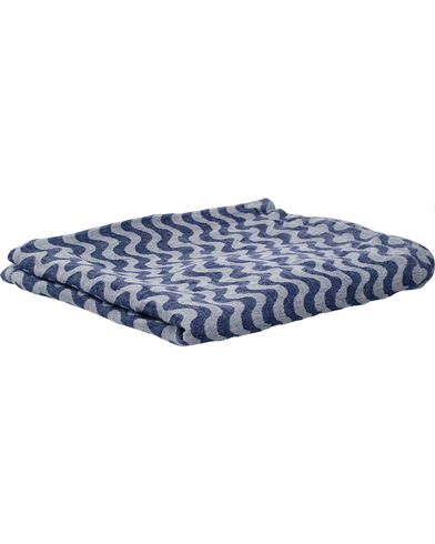Frescobol Carioca 100% Linen Towel Navy Blue