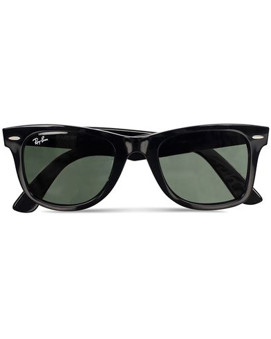 Ray-Ban Original Wayfarer Sunglasses Black/Crystal Green