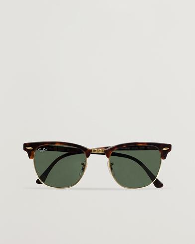 Ray-Ban Clubmaster Sunglasses Mock Tortoise/Crystal Green