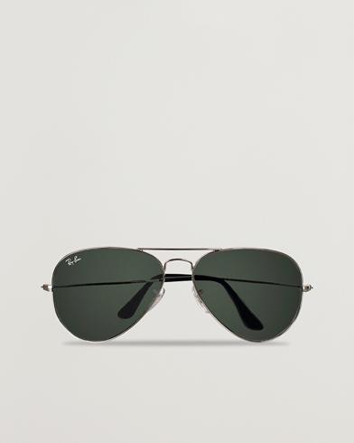 Ray-Ban Aviator Large Metal Sunglasses Silver/Grey Mirror