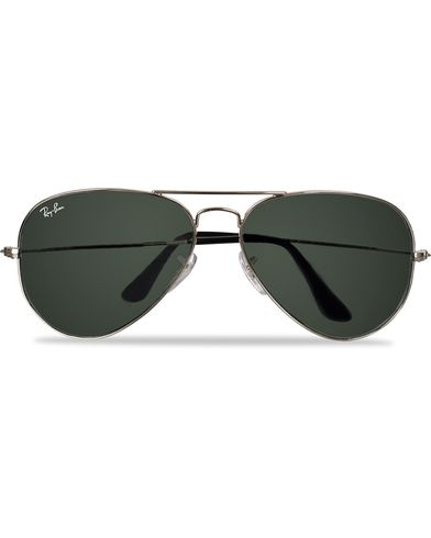 Ray-Ban Aviator Large Metal Sunglasses Silver/Grey Mirror i gruppen Assesoarer / Solbriller / Pilotsolbriller hos Care of Carl (11949410)