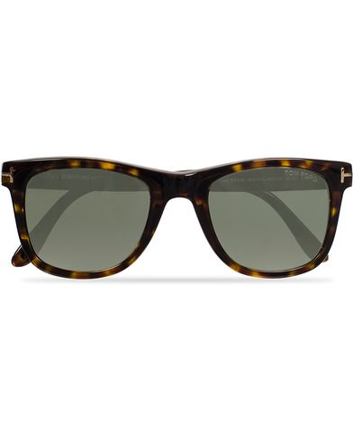 Tom Ford Leo FT0336 Polarized Sunglasses Havana/Green i gruppen Assesoarer / Solbriller / Buede solbriller hos Care of Carl (11955910)