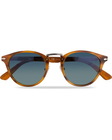 Persol PO3108S Polarized Sunglasses Striped Brown/Gradient Blue  i gruppen Assesoarer / Solbriller hos Care of Carl (11964210)