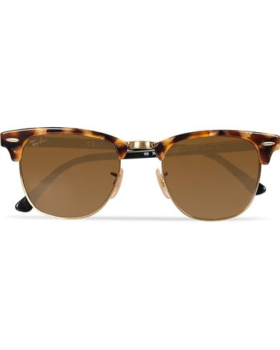 Ray-Ban Clubmaster Sunglasses Spotted Brown Havana/Brown