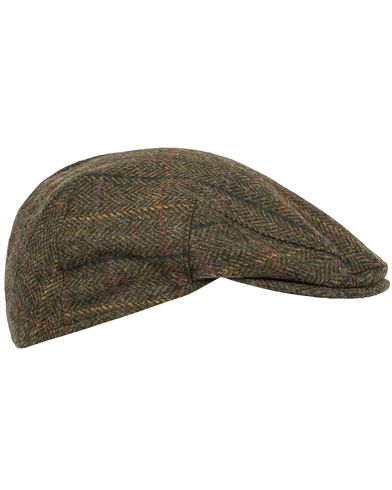 Barbour Lifestyle Moons Tweed Cap Olive Herringbone i gruppen Assesoarer / Hatter & capser / Sixpence hos Care of Carl (12018811r)